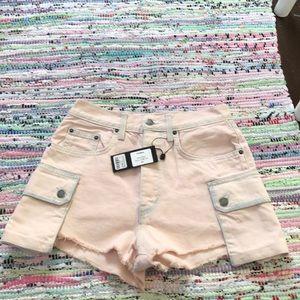 Size 27 Light Pink Titania Denim Shorts